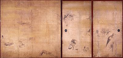 写真:狩野探幽 《四季花鳥図》 江戸時代前期     (臨春閣障壁画)