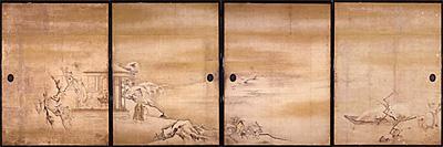 写真:狩野探幽 《琴棋書画図》 江戸時代前期(臨春閣障壁画)
