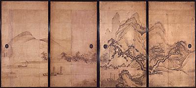 写真:雲澤等悦 《山水図》 江戸時代前期(臨春閣障壁画)