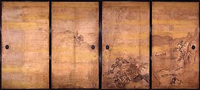 写真:狩野安信 《四季山水図》 江戸時代前期(臨春閣障壁画)