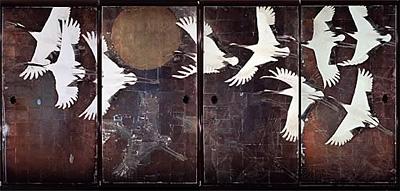 写真:中島清之《鶴図》昭和51(1976)(臨春閣障壁画)