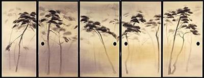 写真:中島千波《松林図》平成2(1990)(臨春閣障壁画)