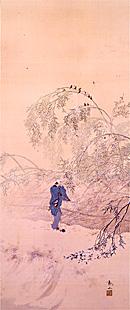 写真:下村観山 《雪の朝帰り》 明治44(1911)頃