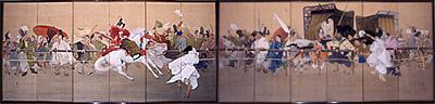 写真:高橋広湖 《馬上の誉(加茂競馬)》 明治41(1908)