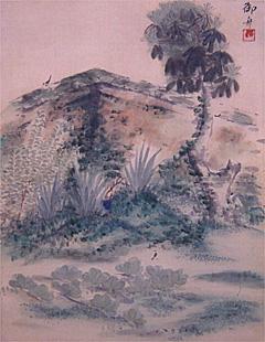 写真:速水御舟 《破庭小禽》 大正6(1917)