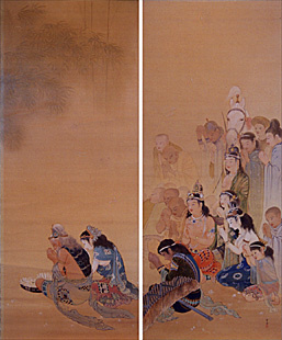 写真:荒井寛方 《竹林の聴法》 明治44(1911)