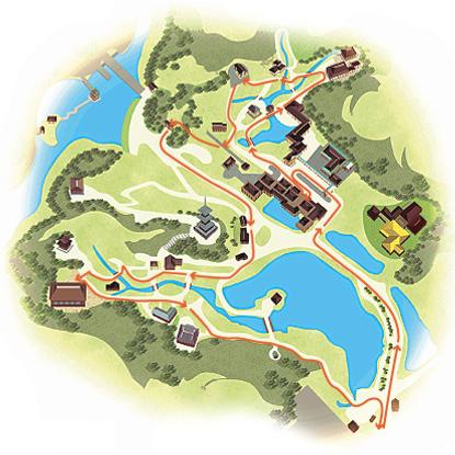 地図:おすすめコース(所要時間90~120分)