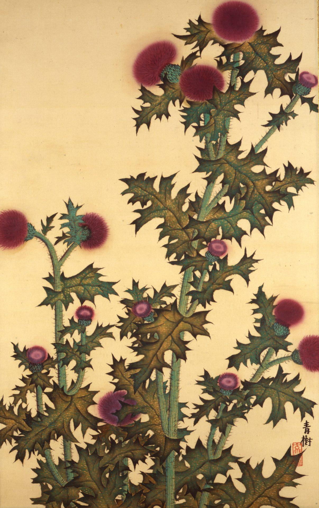 所蔵品展「四季のうつろい―花野」、「臨春閣 村雨松林図」、  「原三溪の書」